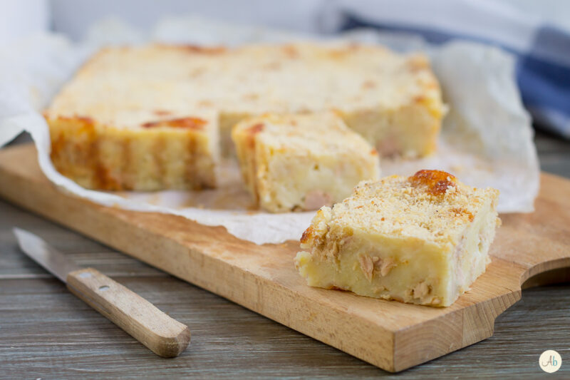 Tortino di patate tonno e mozzarella