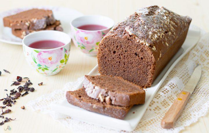Plumcake al cacao senza glutine e senza lattosio