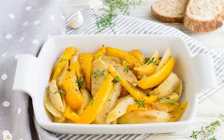 Peperoni e patate agli aromi