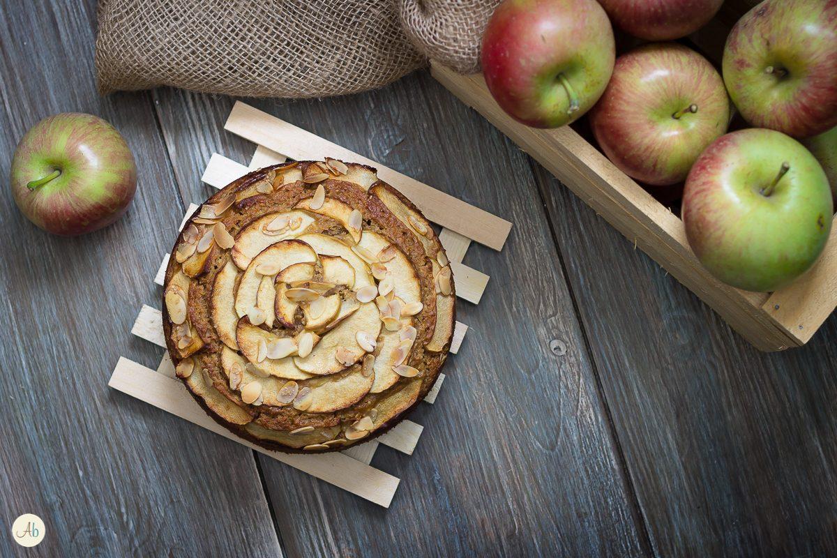 torta di mele e mandorle veg