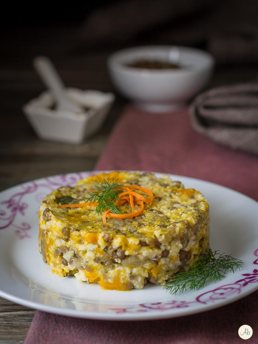 Tortino di miglio lenticchie zucca e melanzane aryblue for Cucinare miglio