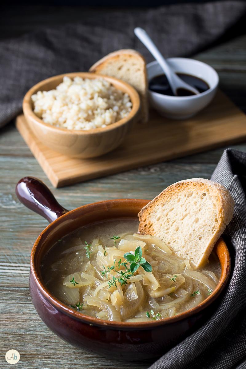 Zuppa di Cipolle con Riso Integrale