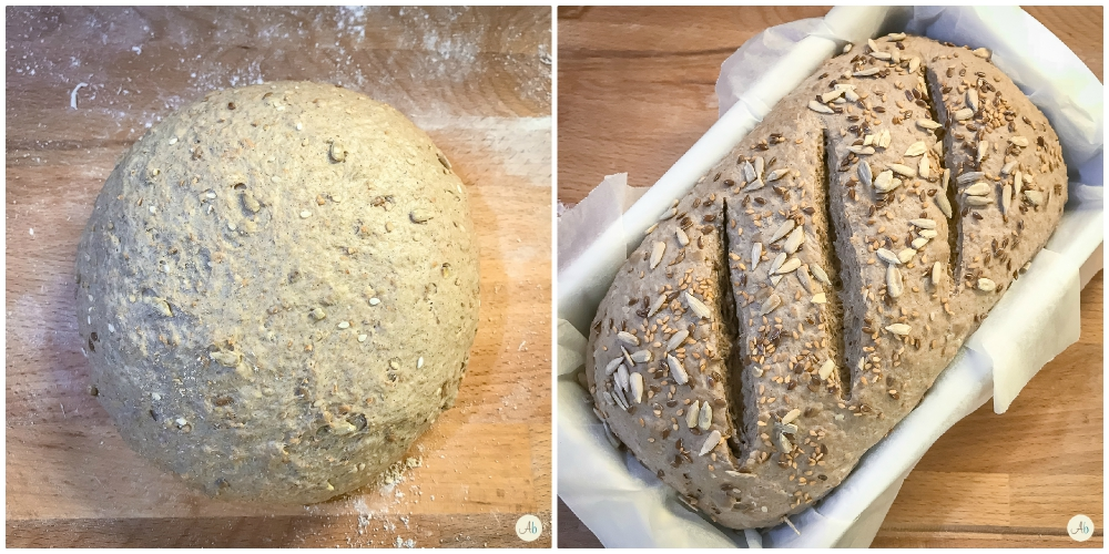 Pane di farro e segale con semi oleosi