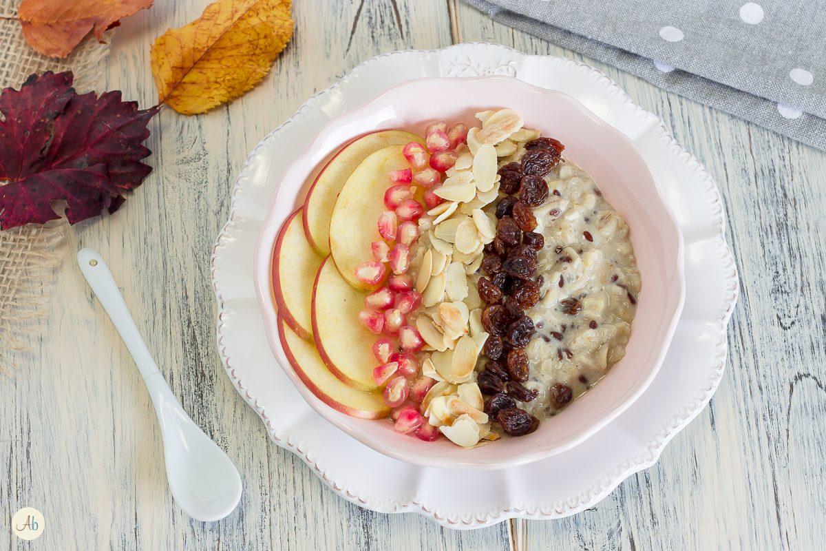 Porridge di avena e mandorle