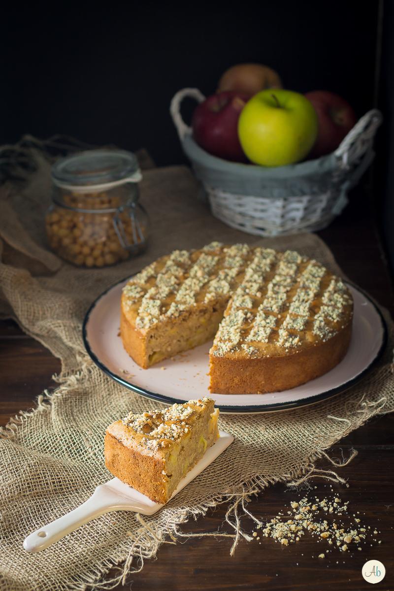 Torta di mele vegan con aquafabae senza zucchero