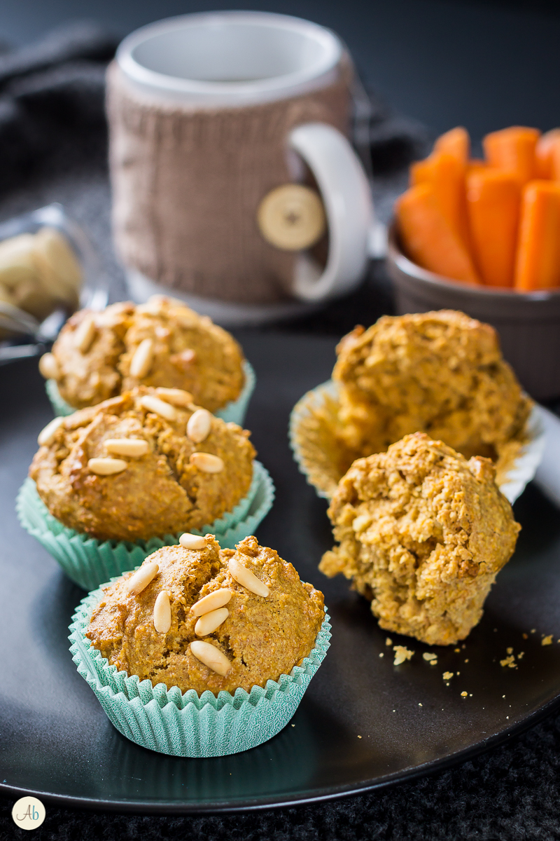 muffin carote e mandorle vegan