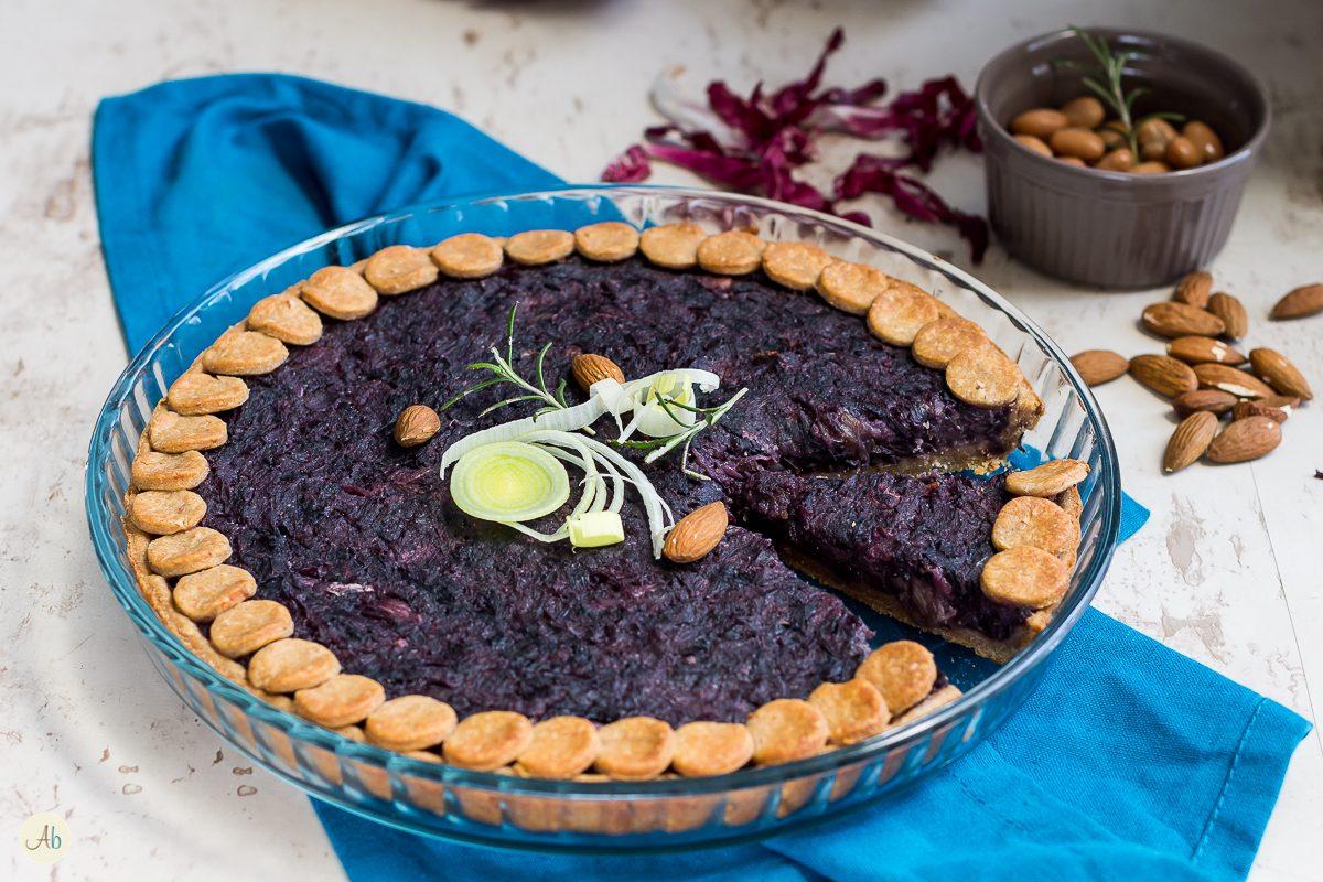 torta salata al radicchio e topinambur