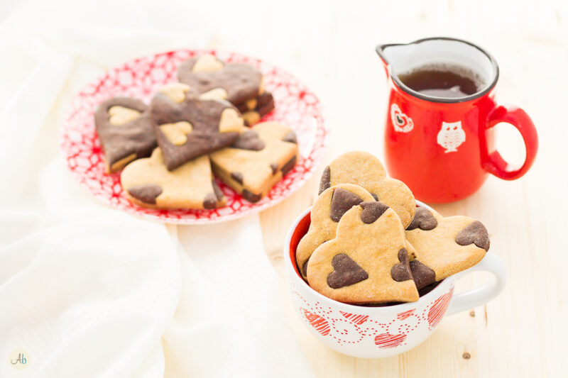 Biscotti Cuore Vegan Yin Yang – Vaniglia e Cacao