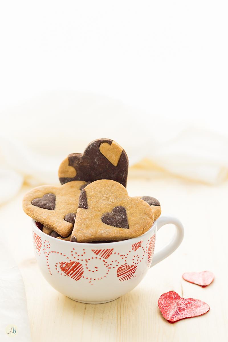 biscotti cuore vegan