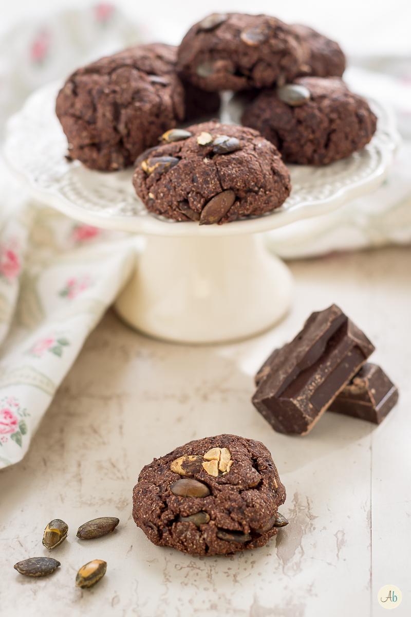 biscotti al cioccolato e semi di zucca