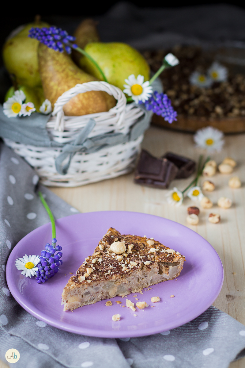 torta pere e nocciole