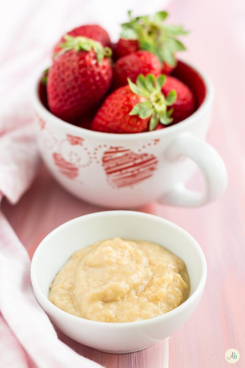 fragole dolci con amasake