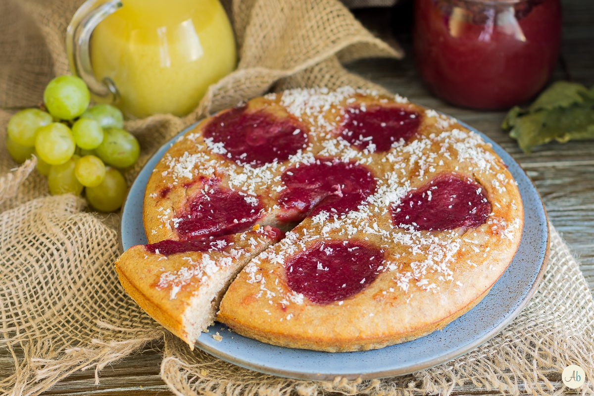 tortina vegan con succo d'uva