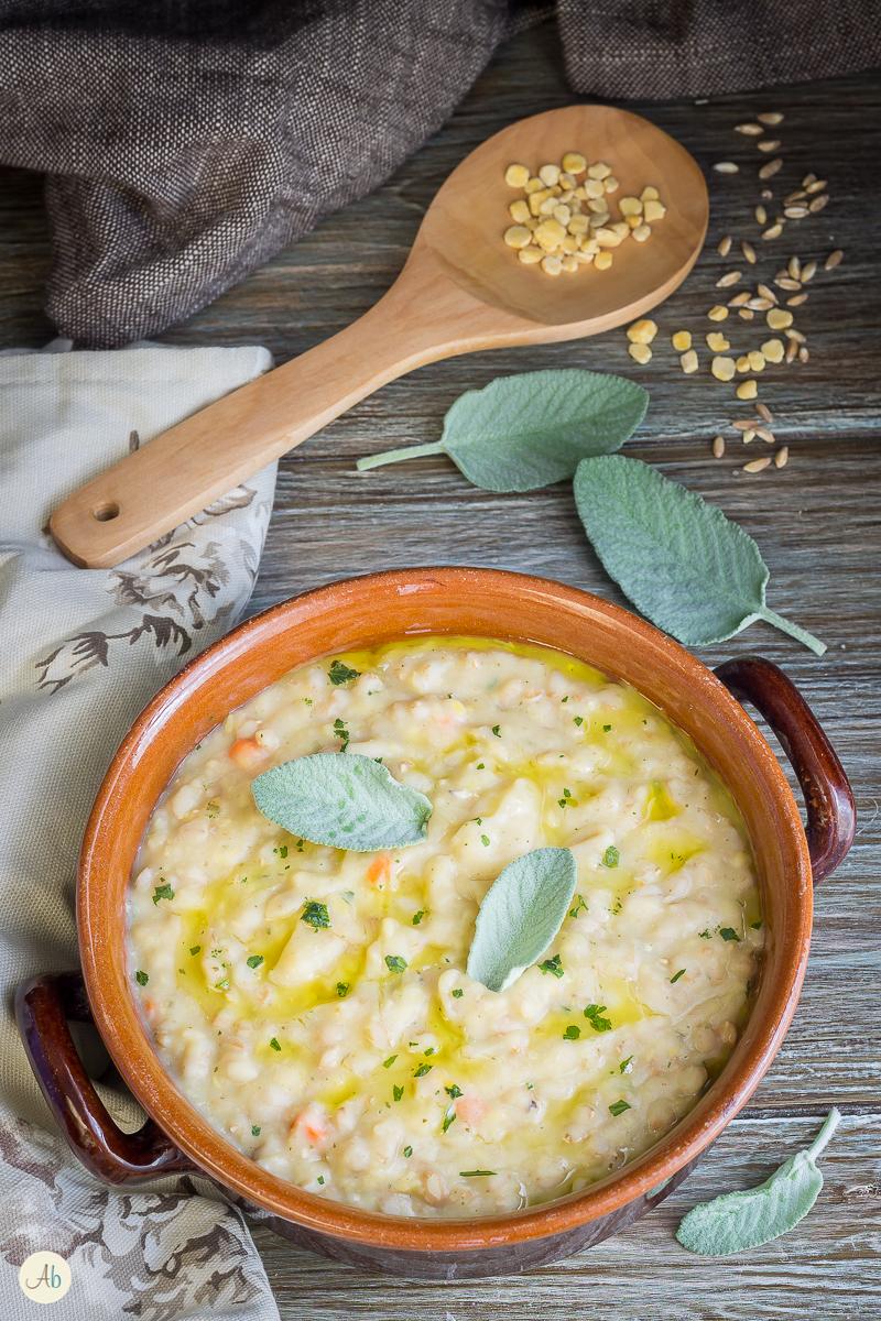 zuppa di farro e cicerchia