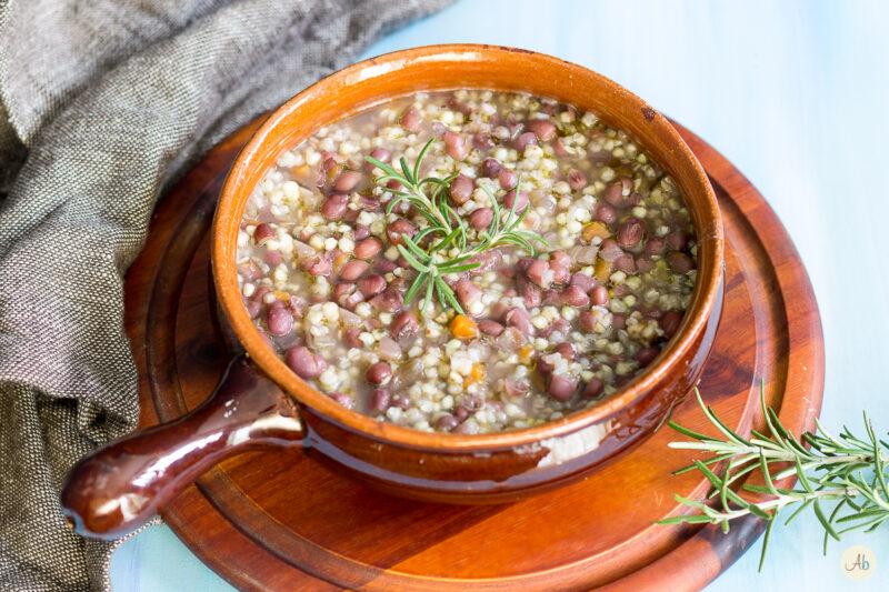 Zuppa di grano saraceno e azuki