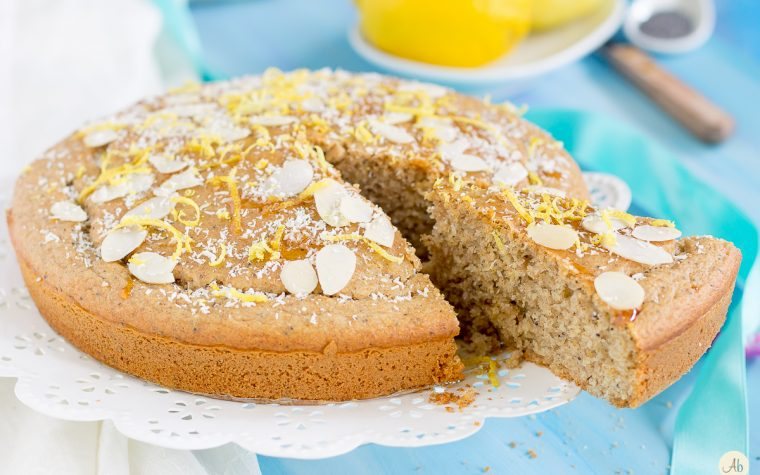Torta al limone e semi di papavero – ricetta vegan