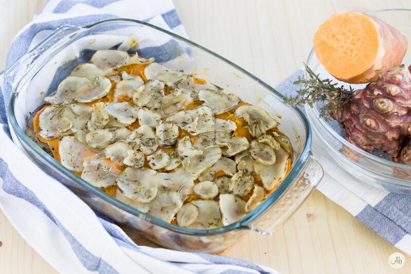 Topinambur e batata al forno – i tuberi della salute