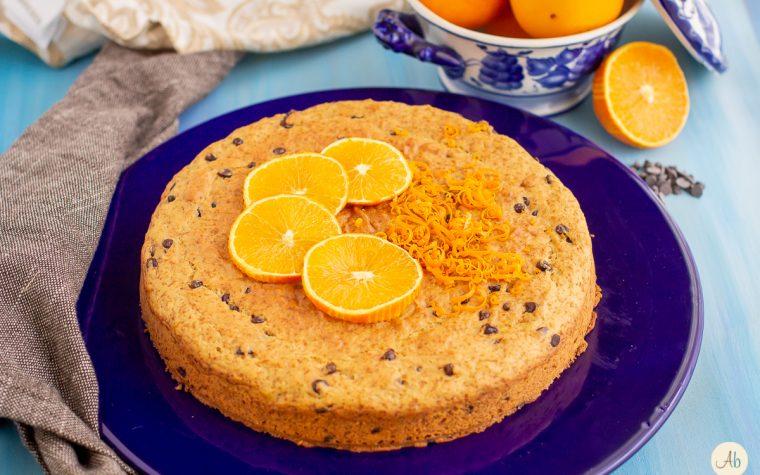 Torta veg arancia e cioccolato