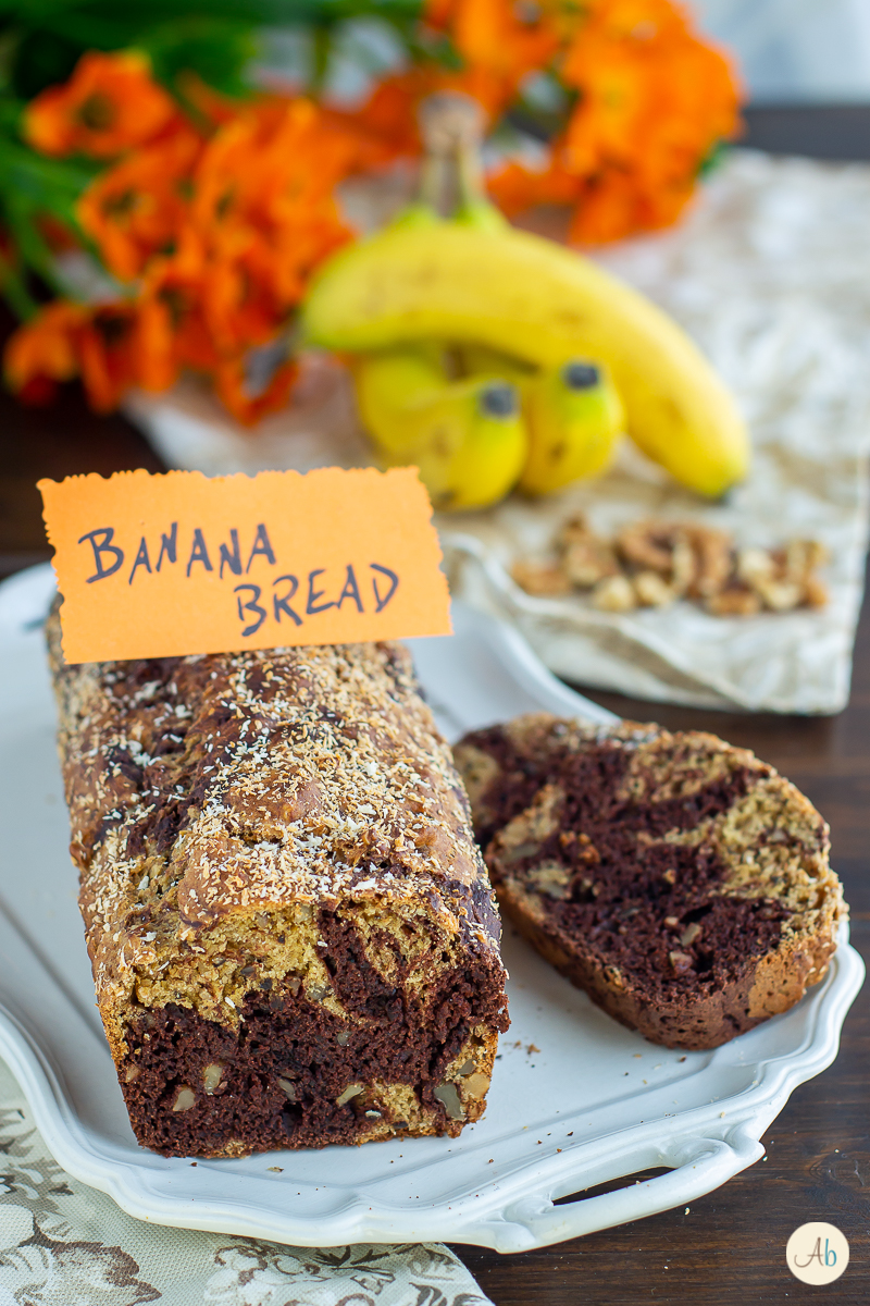Banana Bread vegan alle noci e cacao