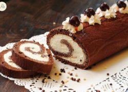 Rotolo al Cacao con Crema al Mascarpone e Cioccolato