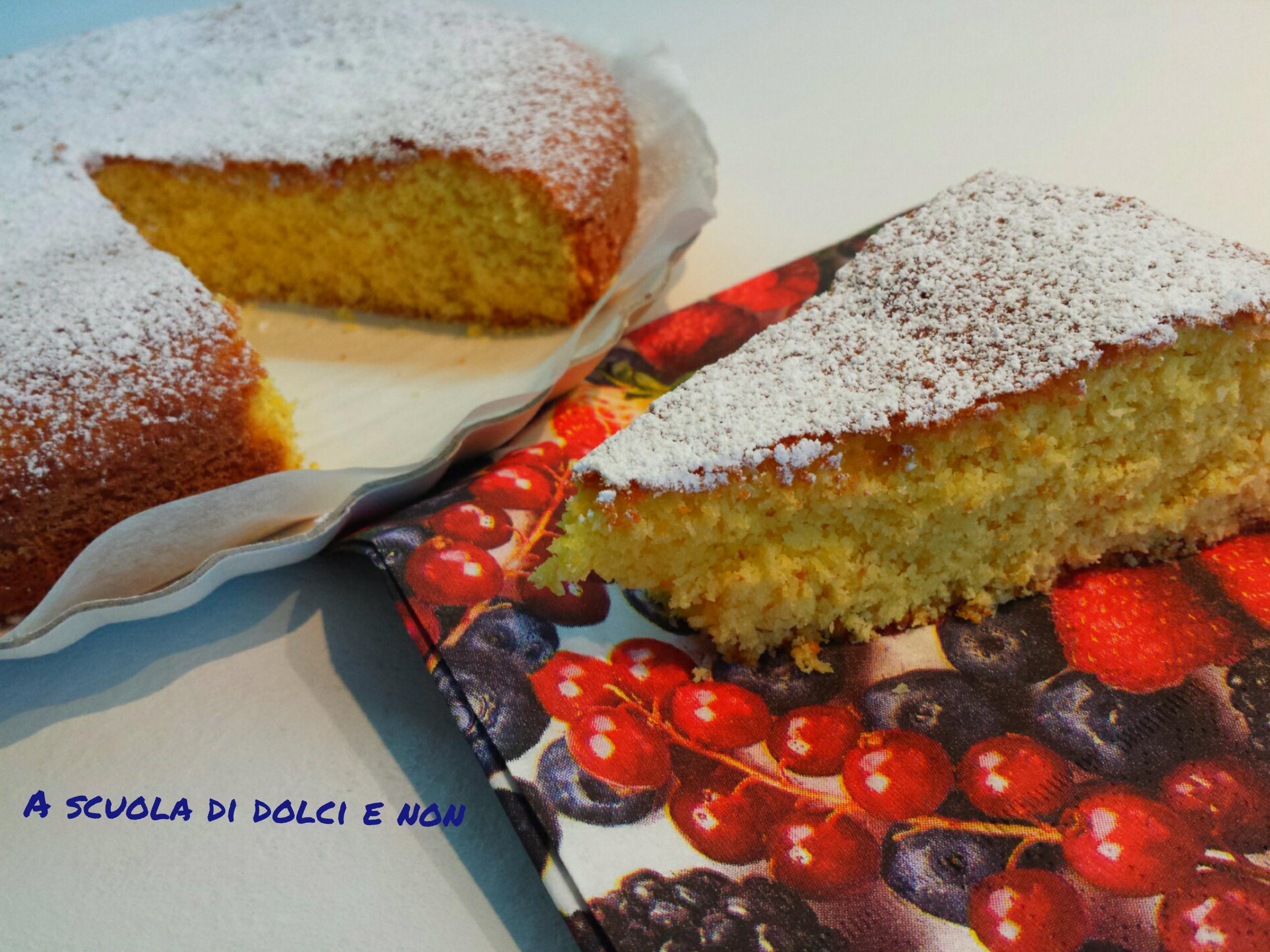 torta soffice al cocco senza glutine e senza lattosio