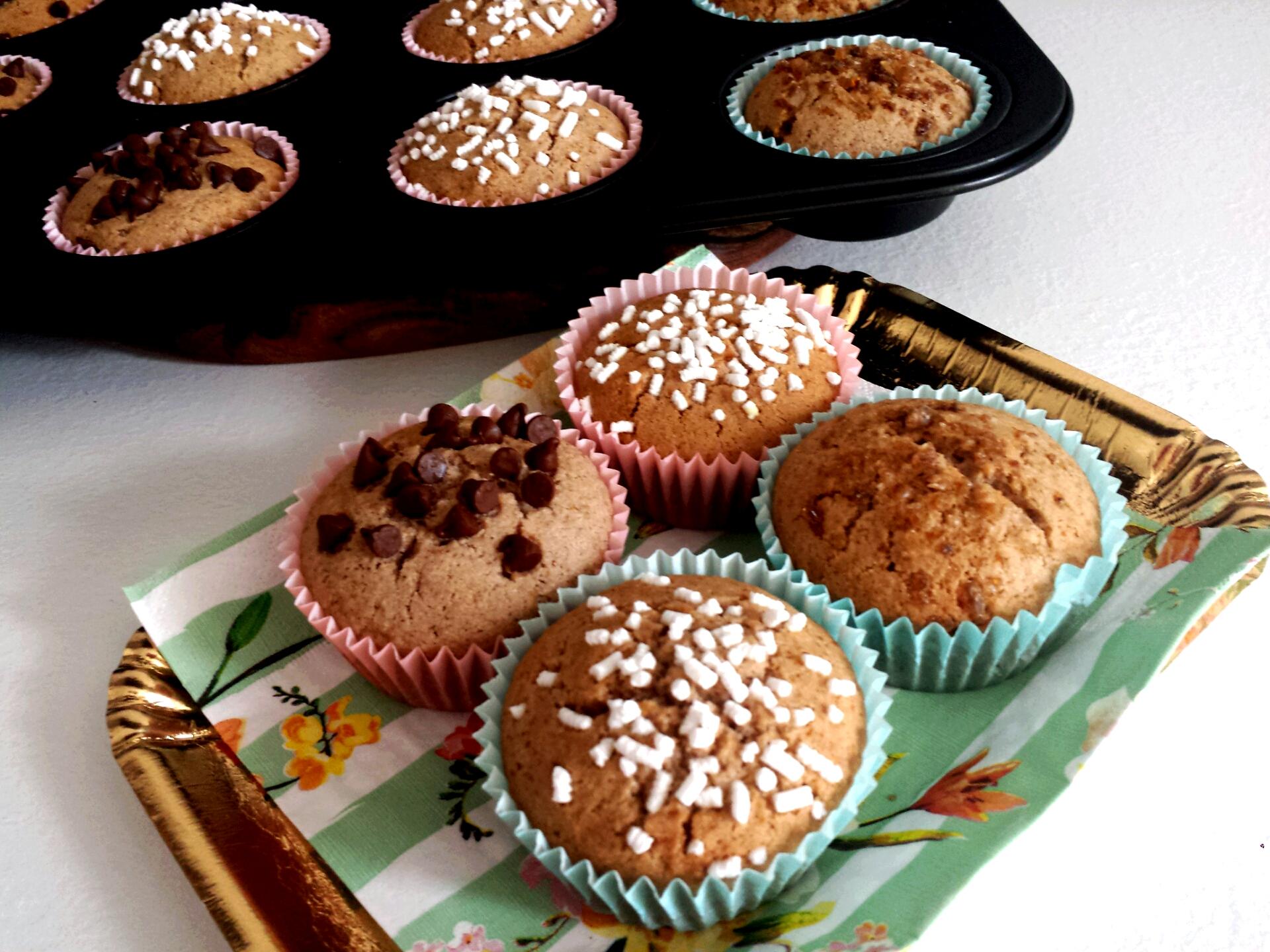 muffin senza glutine con marmellata nell'impasto