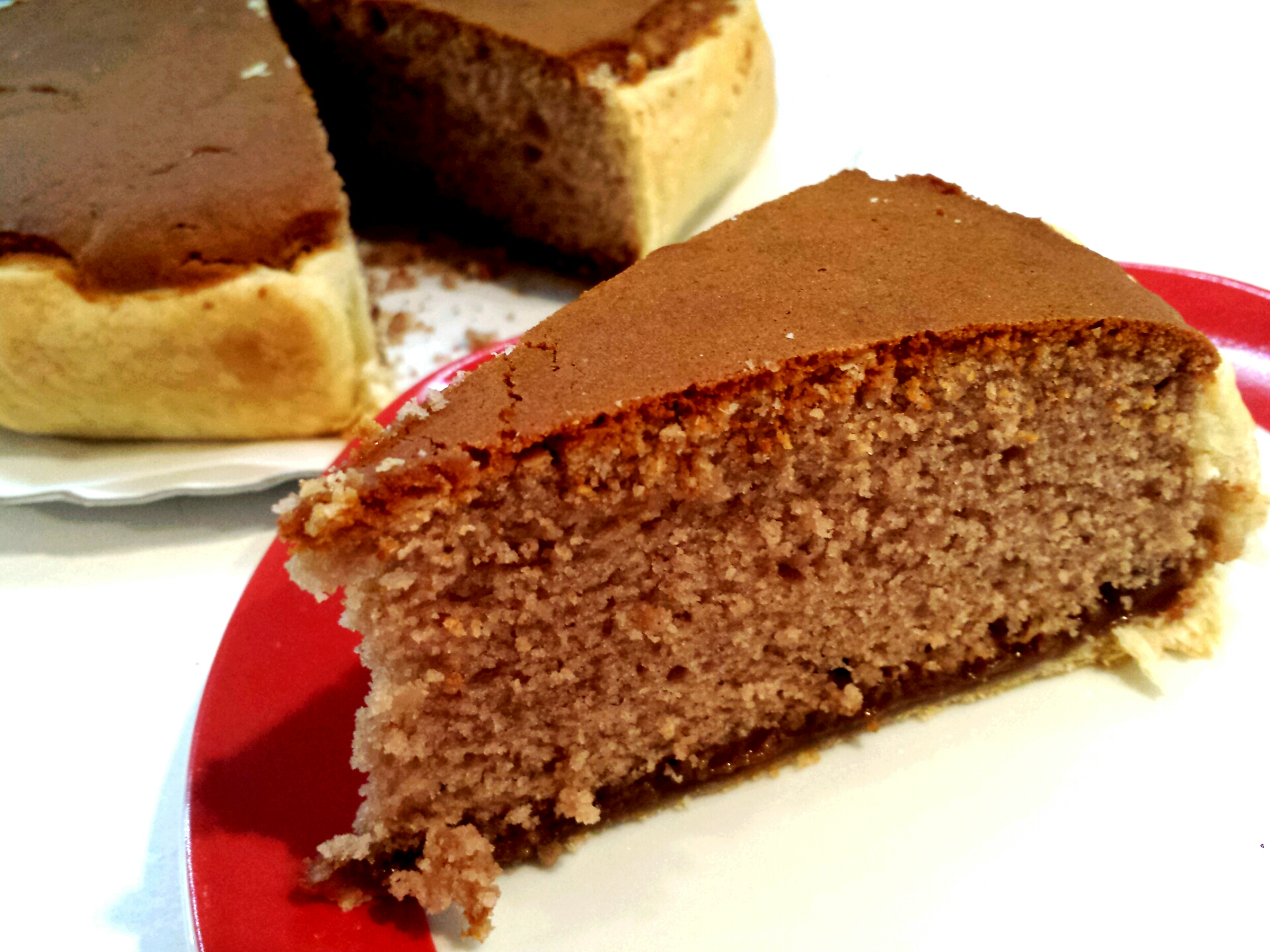Torta soffice con crema di marroni e amaretti