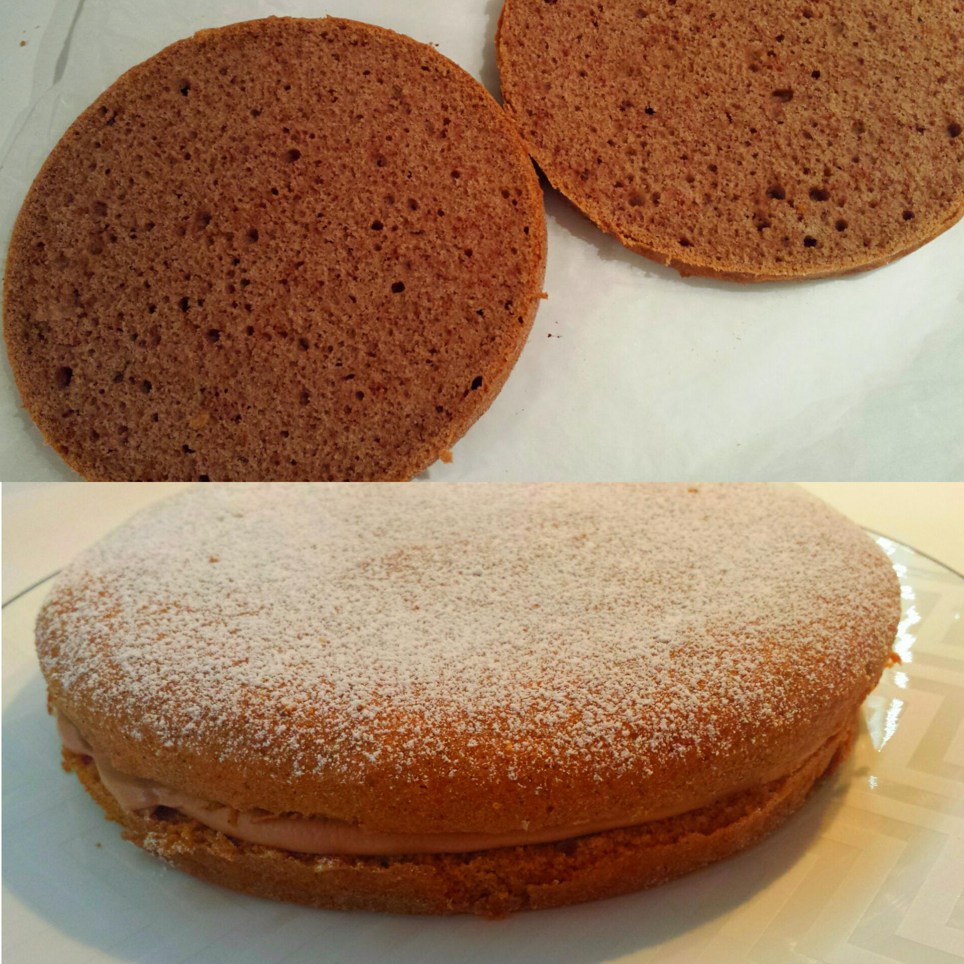 Torta farcita senza glutine e lattosio