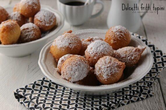 DOLCETTI FRITTI ricetta dolce dei TOPINI AL MARSALA
