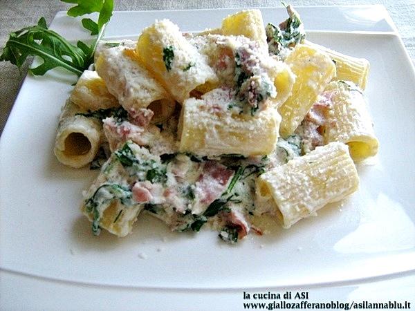 rigatoni-panna-speck-rucola-La-cucina-di-ASI blog