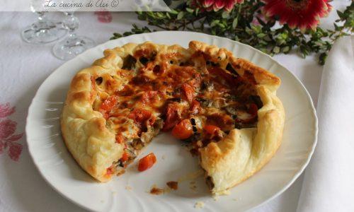 TORTA SALATA MEDITERRANEA ricetta gustosa