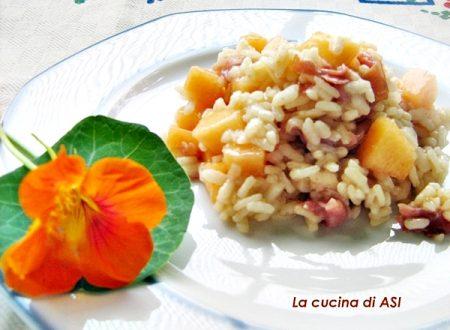 RISOTTO FREDDO CON MELONE E SPECK ricetta estiva