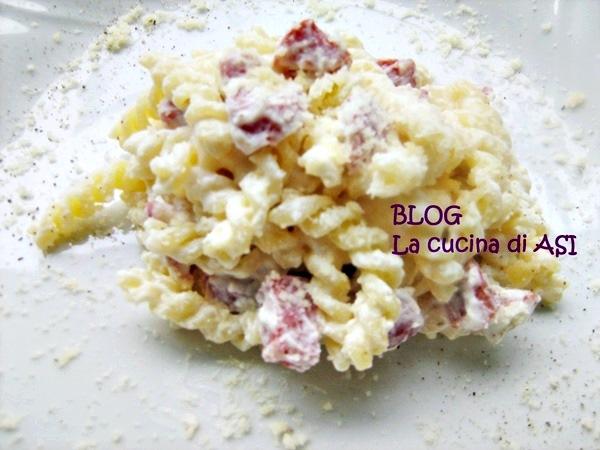 Pasta con salame piccante ricetta