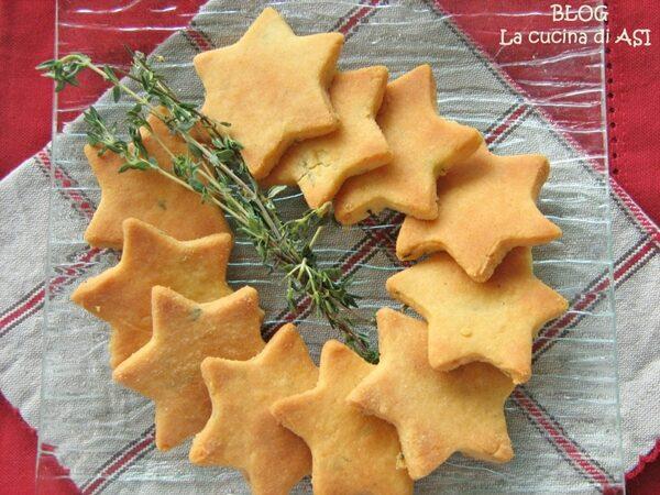 BISCOTTINI SALATI AL PROFUMO DI TIMO ricetta aperitivo