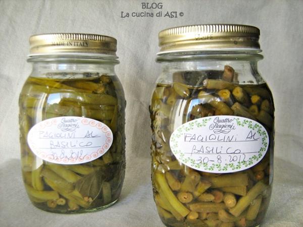 fagiolini al basilico