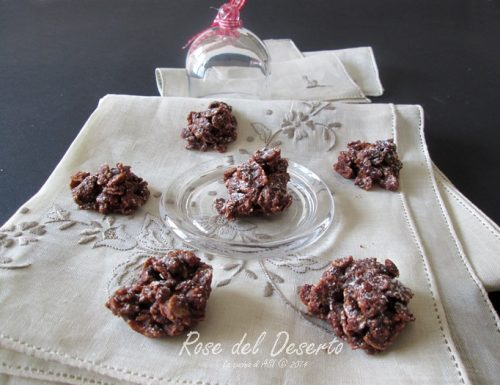ROSE DEL DESERTO   SENZA COTTURA  ricetta dolce