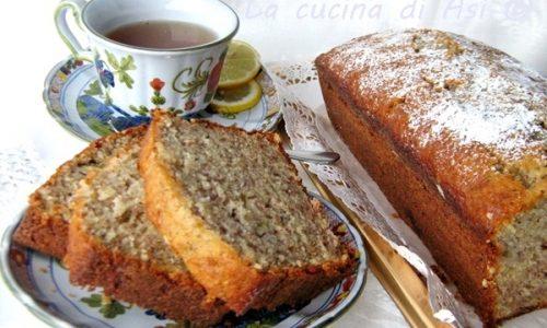 BANANA BREAD CON NOCCIOLE E PANNA ricetta dolce
