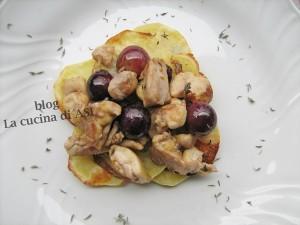 POLLO-UVA-TIMO-E-PATATE-CHIPS la cucina di ASI