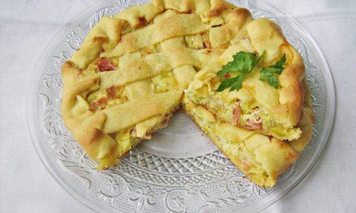 QUICHE CON SPECK E PORRI ricetta salata