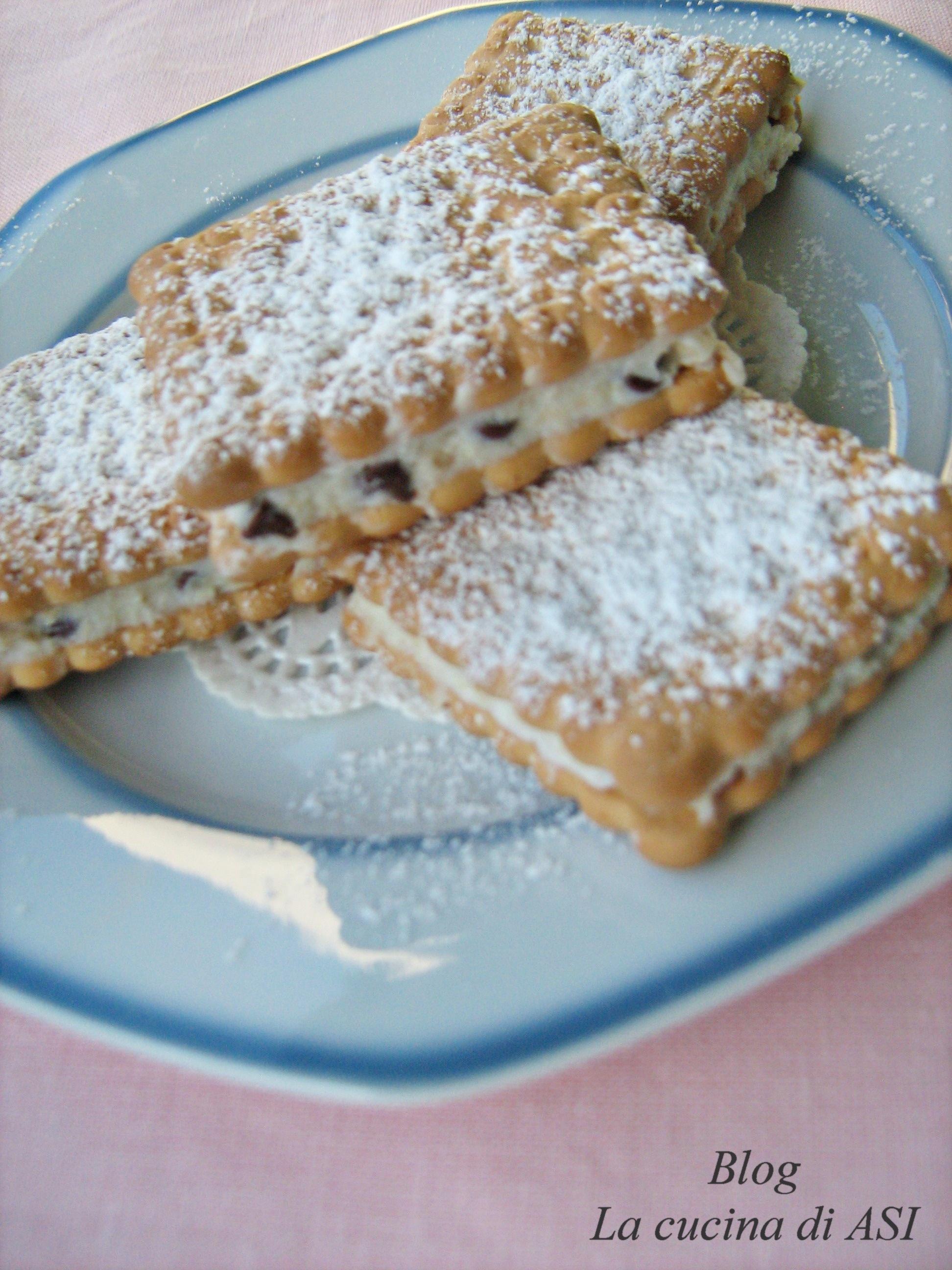 Torta con biscotti secchi veloce