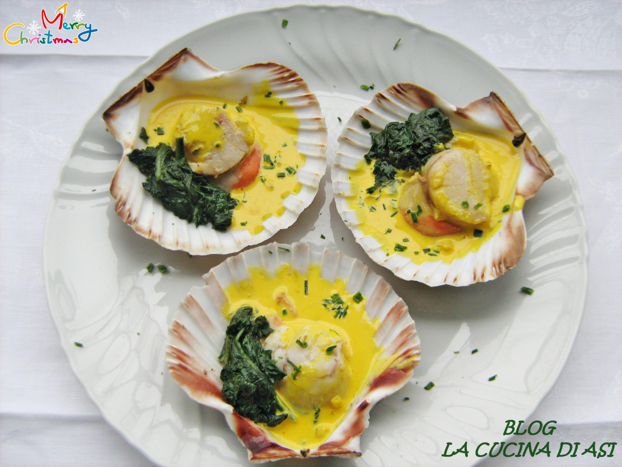 Capesante con spumante e zafferano la cucina di asi for Antipasti ricette italiane