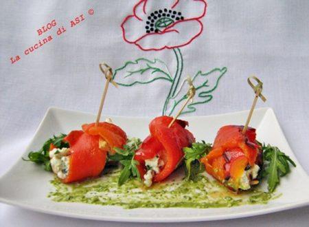 ROLLATINA DI  PEPERONE  E CECI FRITTI PASTICCIATI Ricette aperitivo