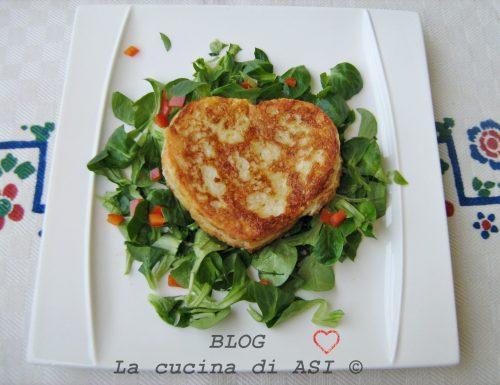 CUORE DORATO ALLA MOZZARELLA Ricetta salata per San Valentino