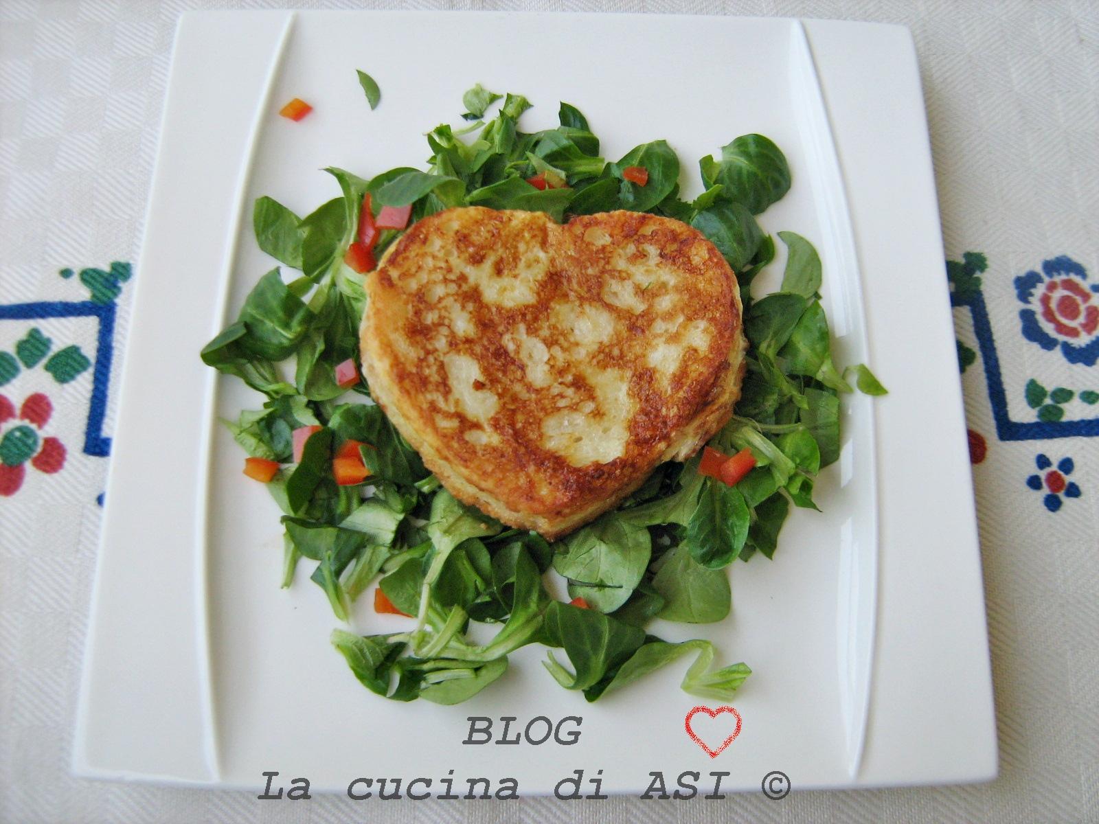 Cuore di mozzarella dorata ricetta la cucina di asi - La cucina del cuore ...
