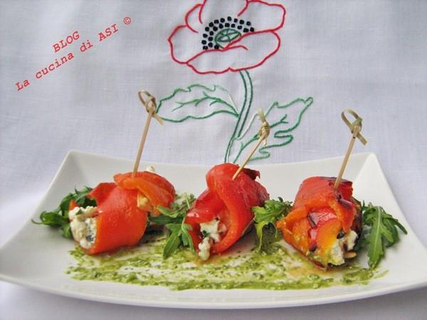 INVOLTINI DI PEPERONI  E CECI FRITTI PASTICCIATI Ricette aperitivo/antipasto