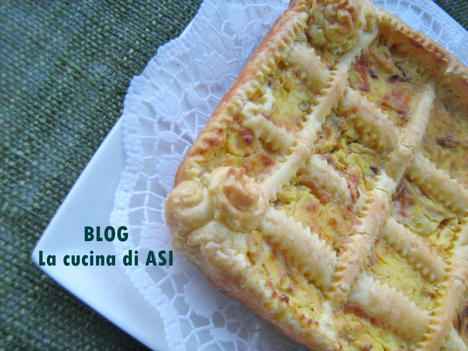 Torta salata con scalogni Lacucina di ASI