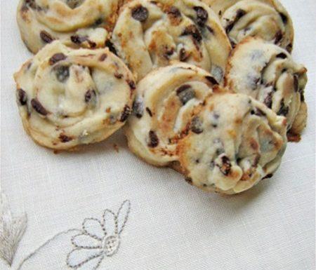 GIRANDOLE CON GOCCE DI CIOCCOLATO Ricetta dolce biscotti