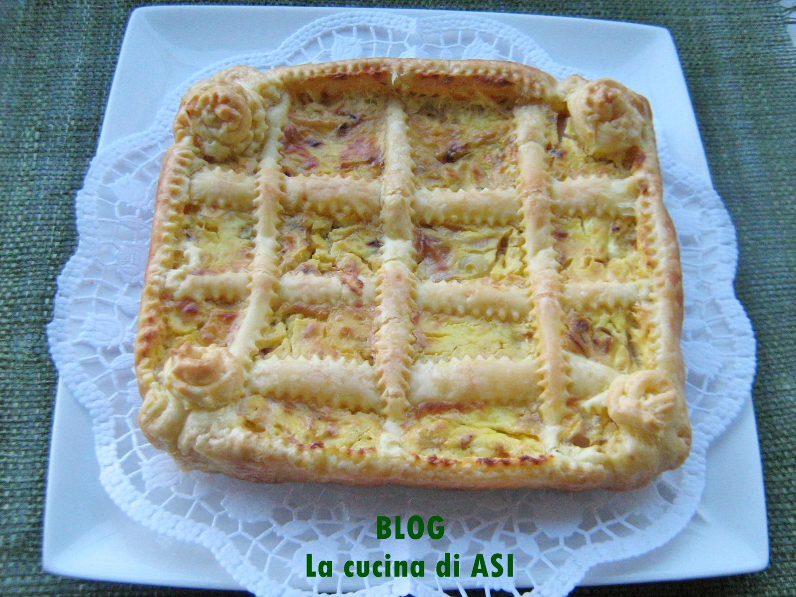 torta salata di scalogni La cucina di ASI