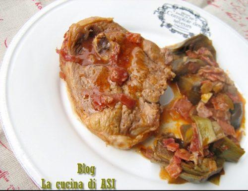 BRACIOLE DI AGNELLO CON CARCIOFI Ricetta secondo piatto di carne