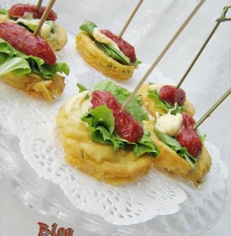 FARINATE MIGNON CON SALAMINO PICCANTE Ricetta antipasto/aperitivo
